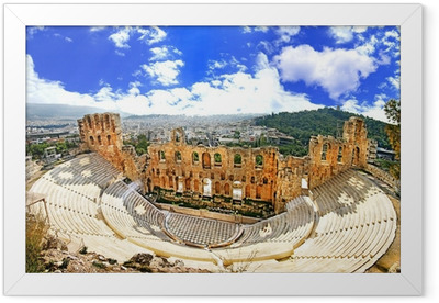 ancient theater in Acropolis Greece, Athnes Framed Poster