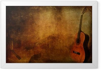 Grunge background guitar Framed Poster