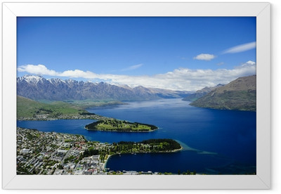 Queenstown and Lake Wakatipu Framed Poster