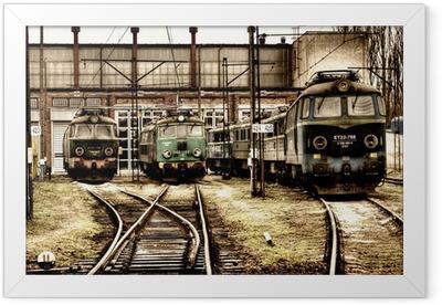 old locomotives Framed Poster