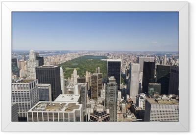 Manhattan From High Viewpoint Framed Poster