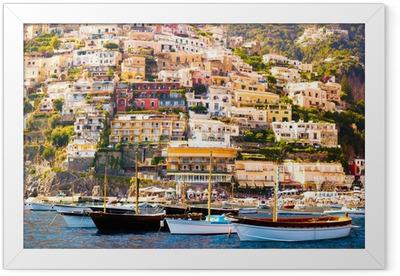 Positano, Costiera Amalfitana Framed Poster