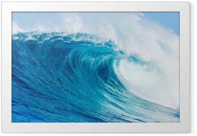 Blue wave Framed Poster