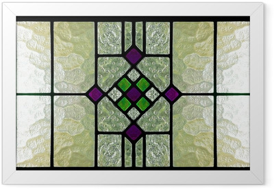 stained glass window Framed Poster