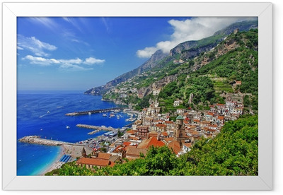 beautiful Amalfi coast, Italy Framed Poster