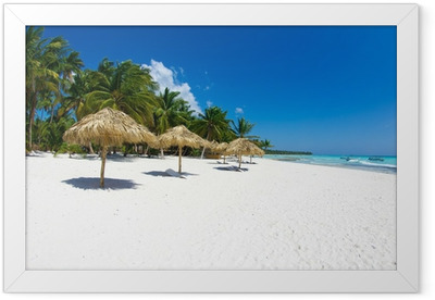 tropical beach Framed Poster