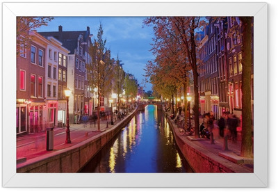 Red Light District in Amsterdam Framed Poster