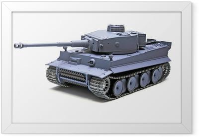 """Scale model German tank """"TIGER"""" Framed Poster"""