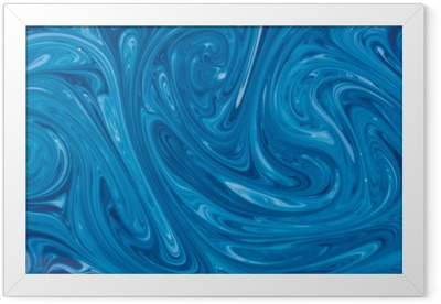 turquoise watercolor marble background Framed Poster