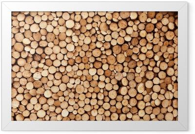 Firewood texture Framed Poster