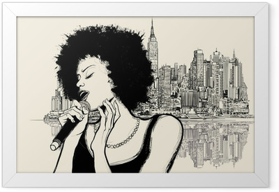 afro american jazz singer Framed Poster