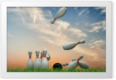 bowling pins Framed Poster