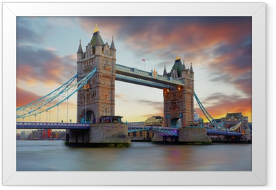 Tower Bridge in London, UK Framed Poster