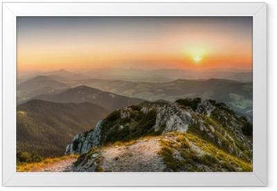 sunset landscape Framed Poster