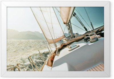 Yacht sailing Framed Poster