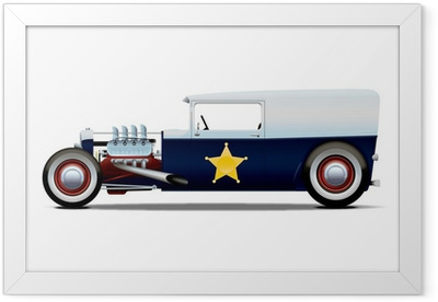 police hot rod Framed Poster