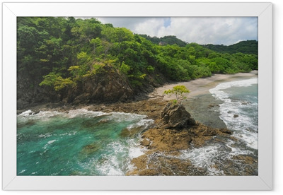 Aerial view of western Costa Rica Framed Poster