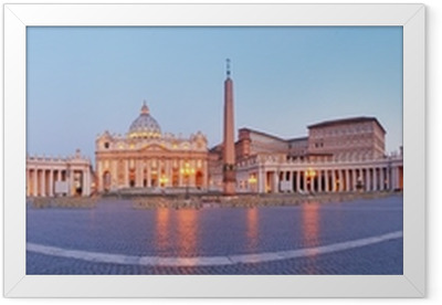 Panoramic view of Vatican city, Rome. Framed Poster