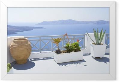 Mediterranean terrace Framed Poster