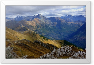 Red Mountain Peaks, Tatras Mountains in Poland Framed Poster
