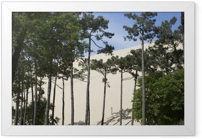 pyla sand dunes france Framed Poster