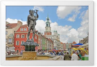 Market square, Poznan, Poland Framed Poster