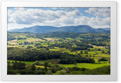 Country scene near Hawkshead the Lake District UK Framed Poster