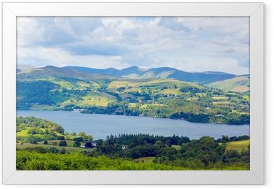 Windermere Lake District England uk sunny summer day Framed Poster