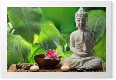 Buddha in meditation Framed Poster