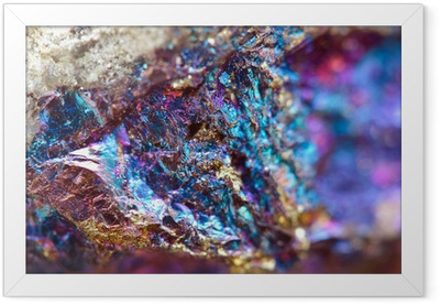 Abstract background from a metal mineral. Framed Poster