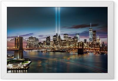 Tribute in Light memorial on September 11, 2014 Framed Poster