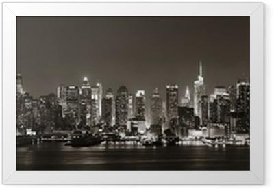 Midtown Manhattan skyline Framed Poster