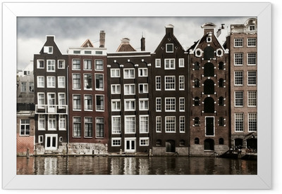 Amsterdam canal houses Framed Poster