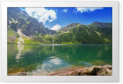 Eye of the Sea lake in Tatra mountains, Poland Framed Poster