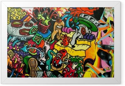 graffiti art urbain Framed Poster