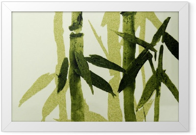 Bamboo / Texture Framed Poster