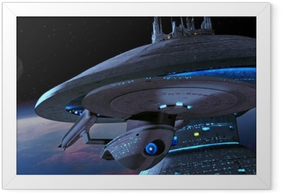 Ship from Star Trek Framed Poster