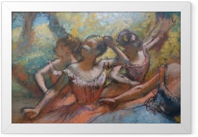 Edgar Degas - Four Dancers on Stage Framed Poster