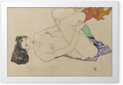 Egon Schiele - Lying Nude Framed Poster