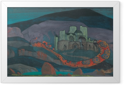 Nicholas Roerich - The Doomed City Framed Poster