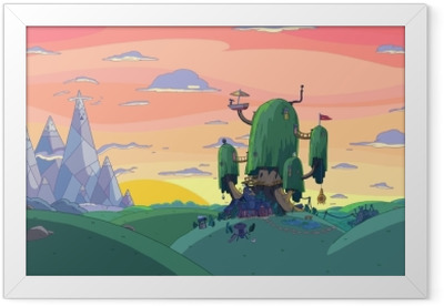 Adventure Time: Fort Framed Poster