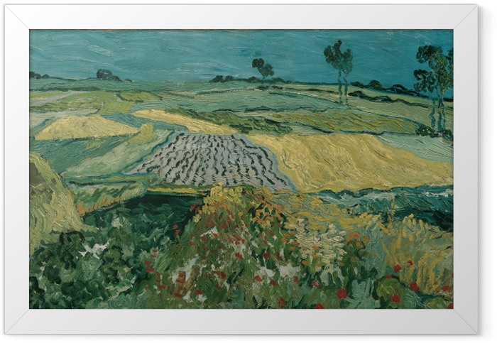 Gerahmtes Poster Vincent van Gogh - Die Ebene von Auvers - Reproductions
