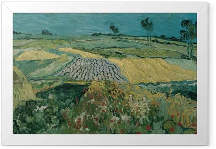 Poster en cadre Vincent van Gogh - La plaine d'Auvers - Reproductions