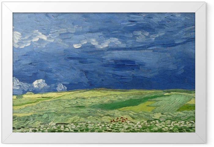 Plakat w ramie Vincent van Gogh - Burzowe chmury nad polem - Reproductions