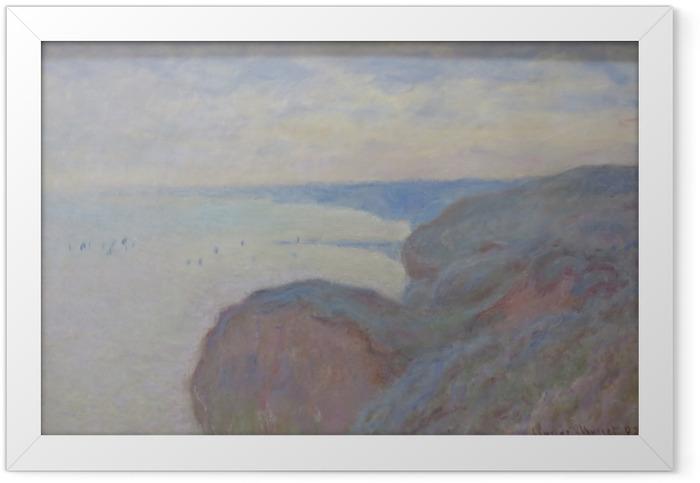 Gerahmtes Poster Claude Monet - Klippen von Dieppe - Reproduktion