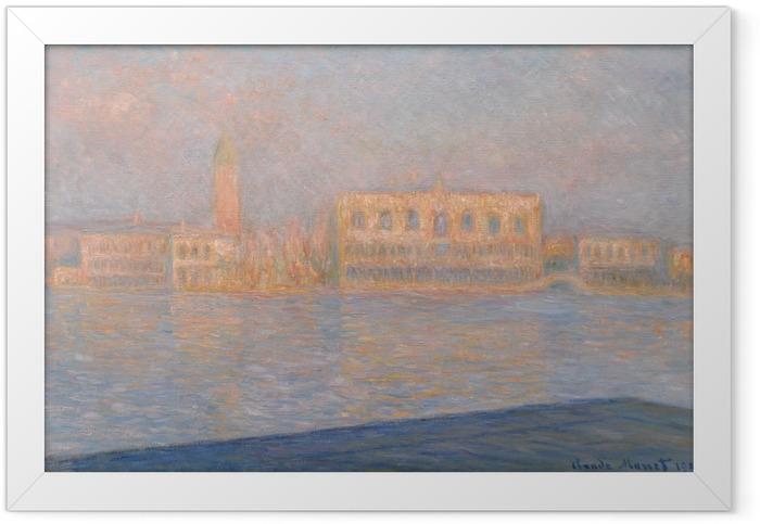 Gerahmtes Poster Claude Monet - Der Dogenpalast, von San Giorgio Maggiore aus gesehen - Reproduktion