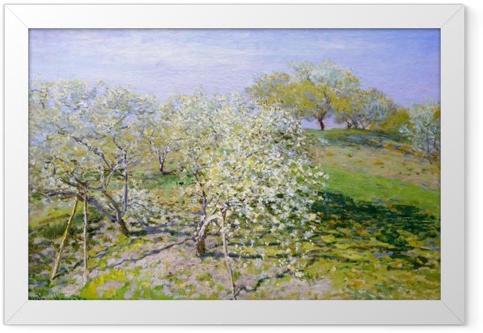 Poster en cadre Claude Monet - Pommiers en fleurs - Reproductions
