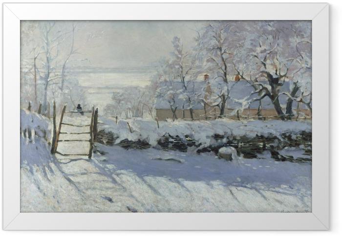 Gerahmtes Poster Claude Monet - Die Elster - Reproduktion