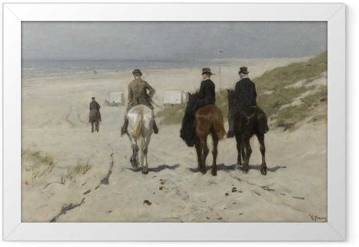 Plakat w ramie Anton Mauve - Poranna przejażdżka po plaży - Reproductions