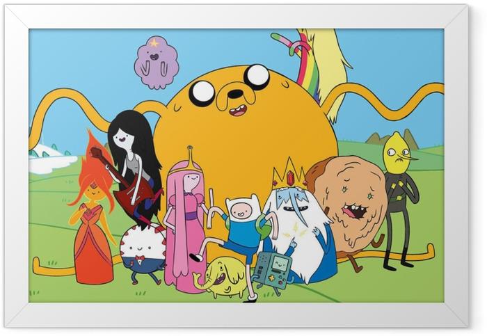 Plakat w ramie Pora na przygodę Finn & Jake - Pora na przygodę